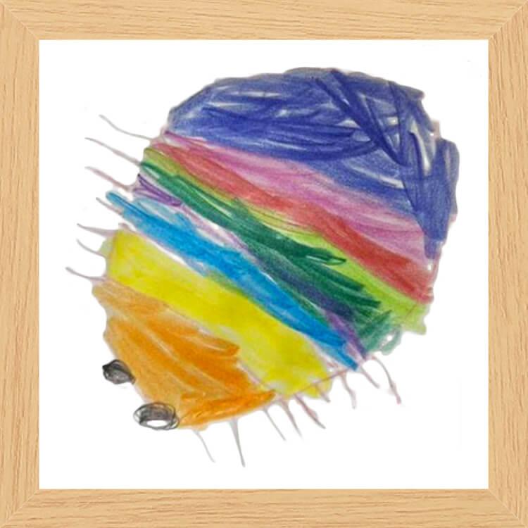 虹色のだんごむし